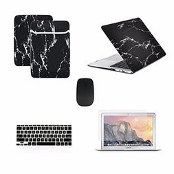 TOP CASE 5 in 1 Bundle Deal - Air 11-Inch Marble Pattern Rub