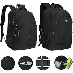 "15.6"" 17.3"" Men Laptop Backpack Waterproof Anti Theft Travel"