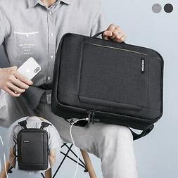 """15.6"""" Laptop Backpack Briefcase Waterproof USB Mens School S"""