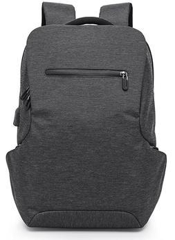 "15.6"" Laptop Backpack Large USB Charging Travel Waterproof M"