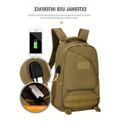 """15.6"""" Laptop Backpack Tactical Backpack Molle USB Port Milit"""