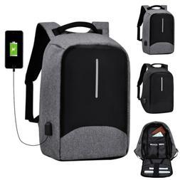 "15.6"" Laptop Backpack USB Anti-theft Waterproof Mens Womens"