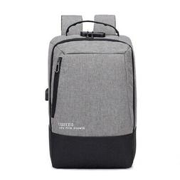 15.6Inch Anti Theft Laptop Backpack Security Lock Oxford Usb