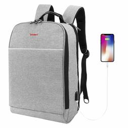 15.6Inch Laptop Backpack Slim Unisex USB Charging Backpack w