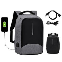 "15"" Anti-Theft Men's Laptop Backpack Waterproof USB Charge T"