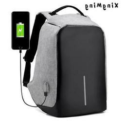 15 inch Laptop Backpack USB Charging Anti Theft Backpack Men