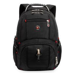 """15"""" Men Laptop Backpack Nylon Computer Cases Travel SWISS ST"""