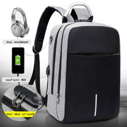 """16"""" Anti-Theft Laptop Backpack with USB Charger Port & Lock"""