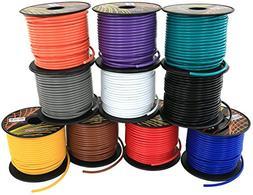 16 GA Primary Wire 10 Roll Color Combo | 100 ft per Color  C