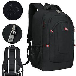 "17.3"" Laptop Backpack Anti-Theft USB Charging Waterproof Lar"