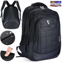 17 inch Mens Waterproof Laptop Backpack Computer Outdoor Tra