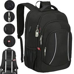 """17"""" Laptop Backpack Extra Large Anti Theft Waterproof USB RF"""
