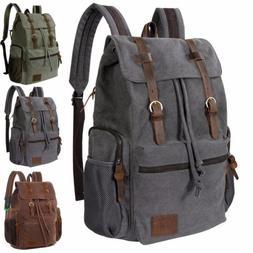 """Lifewit 17"""" School College Bags Canvas Laptop Backpack Unise"""