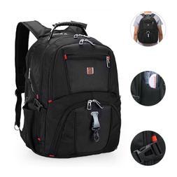 17''Swiss Multifunctional Laptop Backpack Trip Waterproof Ca