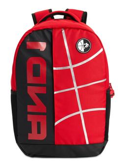 """18"""" And1 """"In the Paint"""" Black & Red Backpack/Book Bag Red"""