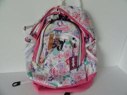 "High Sierra 19"" FAT BOY Laptop Backpack: WONDERLAND PINK LEM"