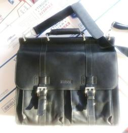 $190 Kenneth Cole Reaction Manhattan Leather Single Gusset L