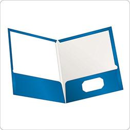 2 BOXES: Oxford Showfolio Laminated Twin Pocket Folders, Let