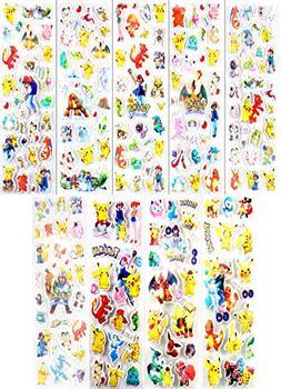 200 Pokemon Stickers 3D Puffy Foam - 9 Pikachu & Friends Sti