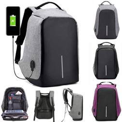 2018 Anti-Theft Waterproof Backpack External USB Charge Port