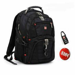 Men's Swiss gear Waterproof Travel Laptop Backpack Computer