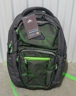 """High Sierra 22L Everyday Backpack Green Holds 15"""" Laptop Lig"""
