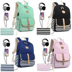 2Pcs Womens Girls School Backpack Shoulder Bags Laptop Trave