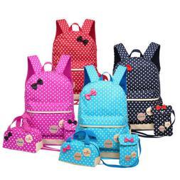 3 Pcs Waterproof Girl School Bags For Teenagers Children Tra