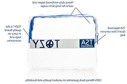 TSA Approved Toiletry Bag Carry On   Women and Men Clear BPA