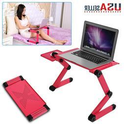 360°Adjustable Folding Laptop Cooling Desk Table Sofa Bed N
