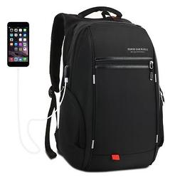37L Nylon Waterproof Laptop Backpack School Business Travel