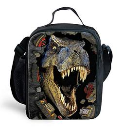 3D Animal Print Insulated Lunch Bag For School Student Kids