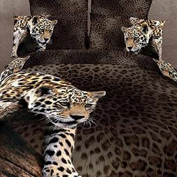 Beddinginn 4 Pieces 3d Bedding Sets Sexy Leopard Cheetah Ani
