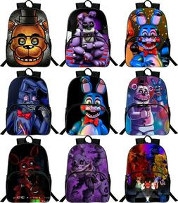 3D Five Nights at Freddy's Backpack School Bag Bookbags Lapt