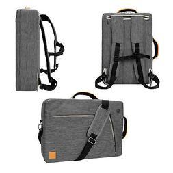 Gray VanGoddy Laptop Backpack Messenger Bag Briefcase for 13
