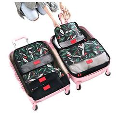 NAGU 6 Set Carry on Luggage Packing Cubes Compression Travel