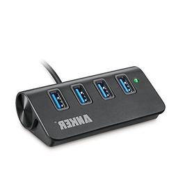 Anker USB 3.0 4-Port Portable Aluminum Hub with 2-Foot USB 3