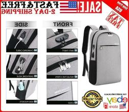 Anti Theft Backpack Travel Laptop Computer Waterproof USB Ch