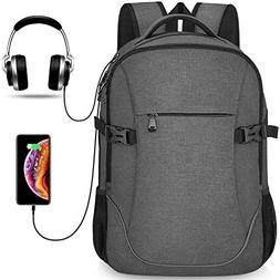 Anti-theft Lightweight Travel Laptop Backpack Dark Grey for