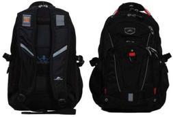 High Sierra Elite Laptop Backpack Black with red trim