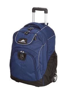 High Sierra True Navy Blue Powerglide Wheeled Book Bag Lapto