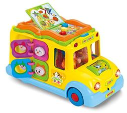 Intellectual school bus Activity Toy Vehicle with Music, Sou