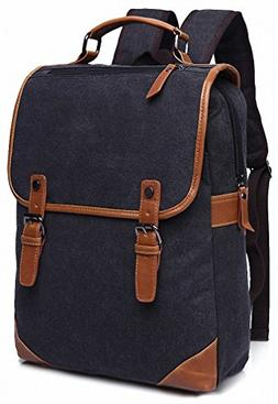 Kenox Vintage College Backpack School Bookbag Canvas Laptop