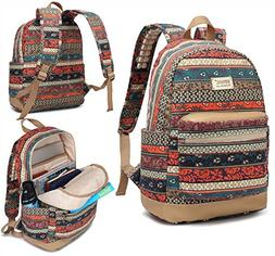Kinmac Bohemian Water Resistant Laptop Backpack with Massage
