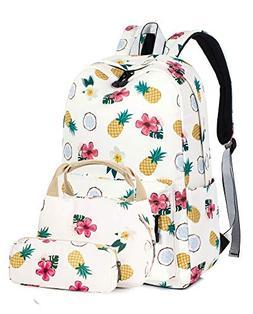 Leaper Pineapple Laptop Backpack School Bookbag Insulated Lu