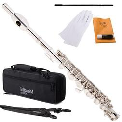 Mendini MPO-S Silver Plated Key of C Piccolo with Case, Join