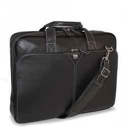 Mobile Edge Deluxe Leather Briefcase- 16-Inch PC/17-Inch Mac