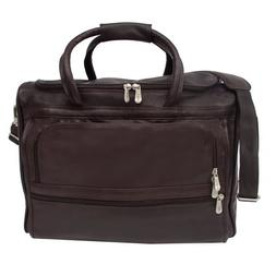 Piel Leather Computer Carry-All Bag, Chocolate, One Size