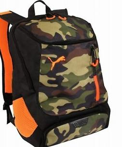 """Puma 19.5"""" The Pace Backpack Camouflage Camo/Orange Laptop S"""
