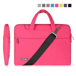 """Qishare 13 13.3"""" Pink Multi-functional Business Briefcase Sl"""
